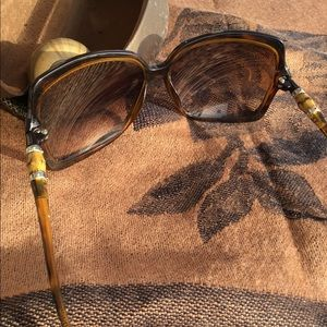 Auth Gucci Bamboo Tortoise Shades